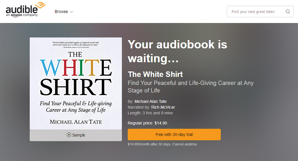 The White Shirt on Audible.com