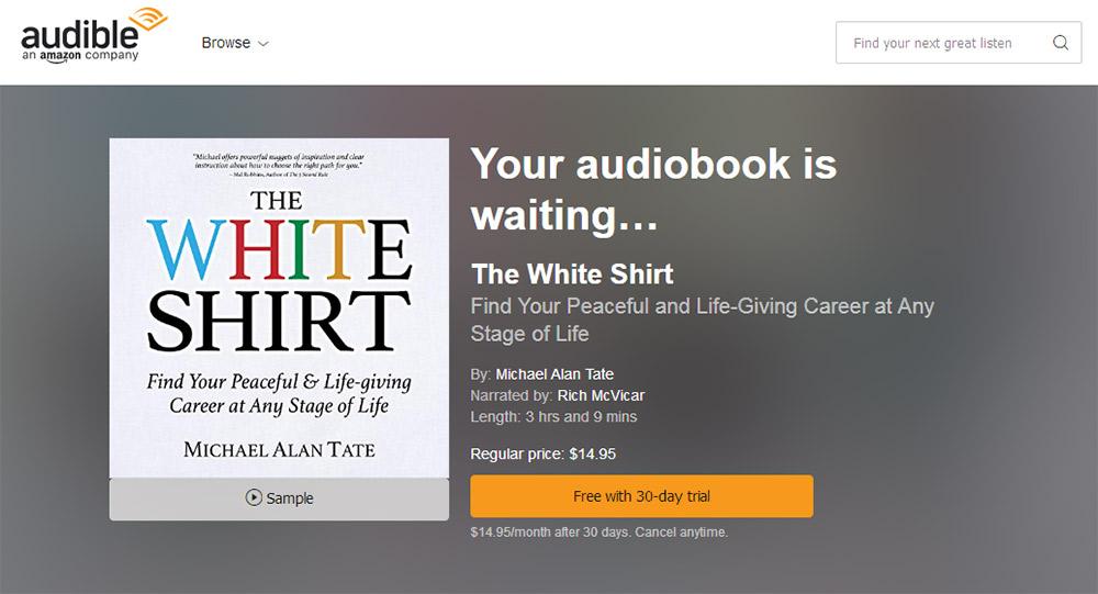 The White Shirt on Audible.com